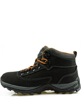 Buty trekkingowe damskie czarne skórzane TF20130305