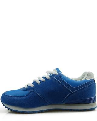 Adidasy damskie, młodzieżowe, niebieskie 33101-C