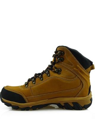 Miodowe, skórzane buty trekkingowe, American Club, LOS7570