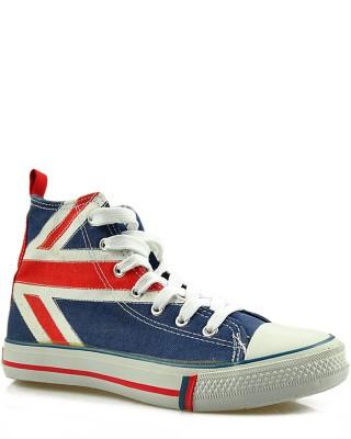 Granatowe trampki, sneakersy za kostkę, American Club England