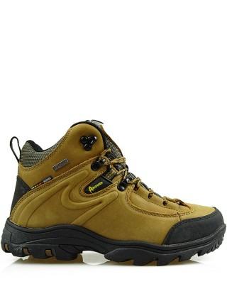 Miodowe, skórzane buty trekkingowe, TF201303002, American
