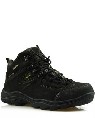 Czarne, skórzane buty trekkingowe, męskie, TF201303002