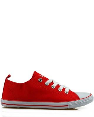 Tenisówki dziecięce, czerwone, LH201360-1, sznurowane