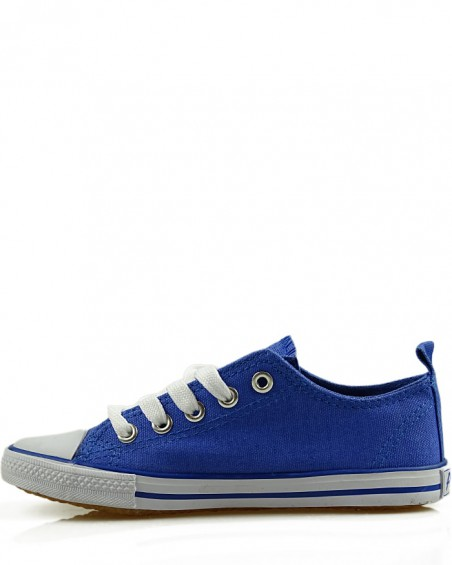 Tenisówki dziecięce, niebieskie, LH201360-1, sznurowane