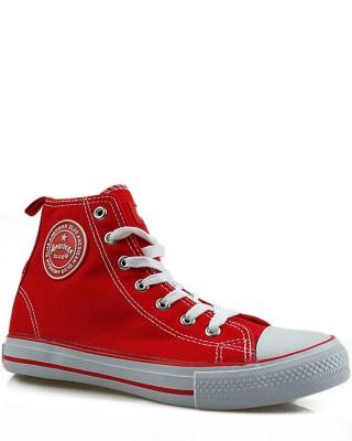 Czerwone trampki, sneakersy, za kostkę, AK 9120-6