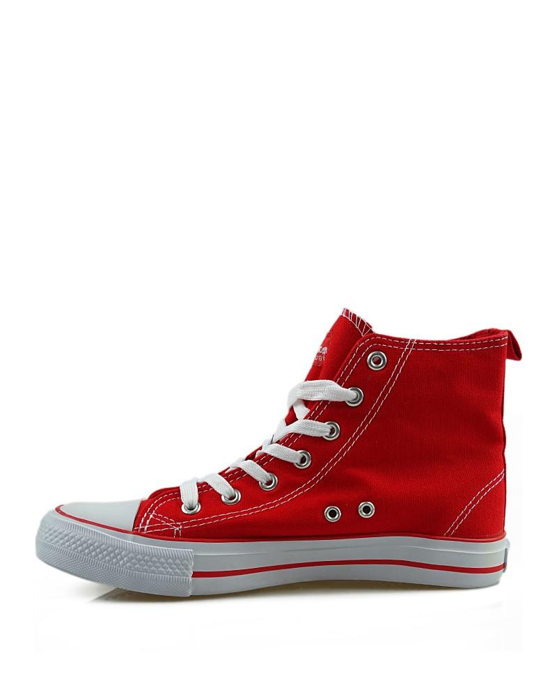 Czerwone trampki, sneakersy, za kostkę, AK 9120 6