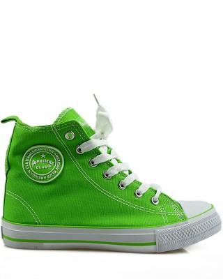 Zielone trampki, sneakersy, za kostkę, AK 9120-2