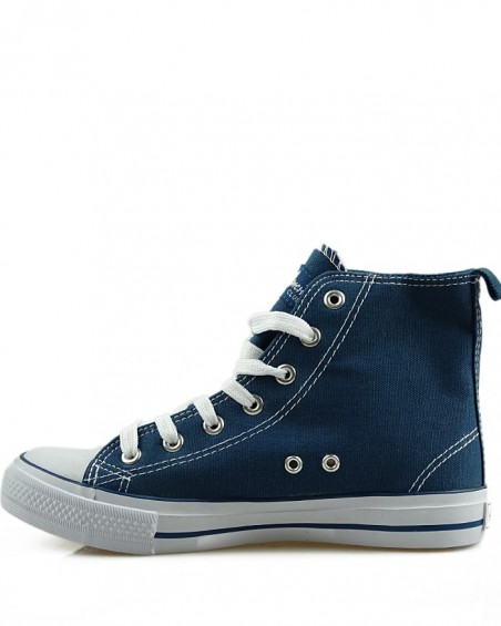 Granatowe trampki, sneakersy za kostkę, AK 9120-3
