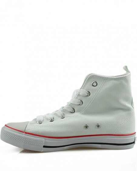 Białe trampki, sneakersy za kostkę, AK 9120-4