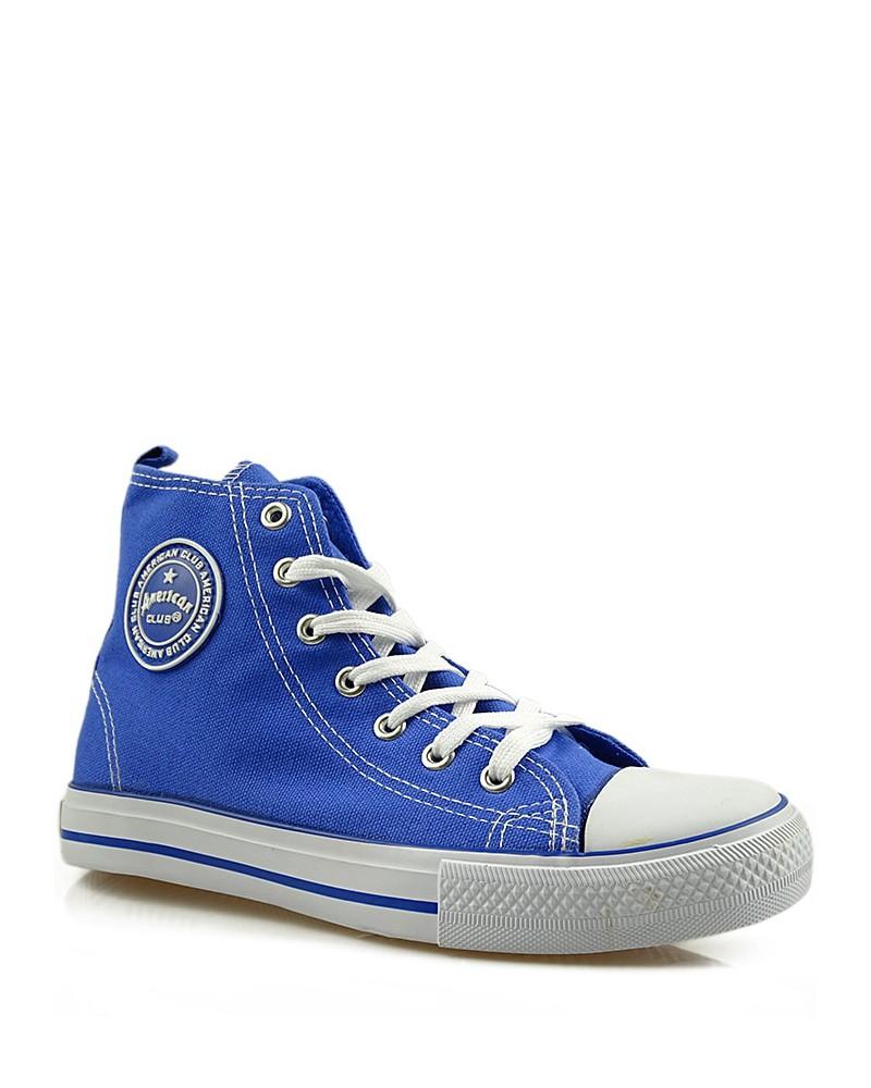 Niebieskie trampki, sneakersy za kostkę, AK 9120-5