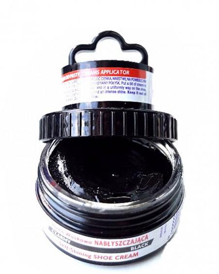 Czarna pasta woskowa, nabłyszczająca, 2 w 1, Shoe Cream, Palc