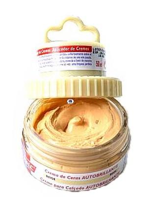 Beżowa pasta woskowa, nabłyszczająca, 2 w 1, Shoe Cream, Palc