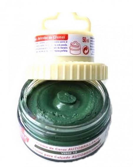 Zielona pasta woskowa, nabłyszczająca, 2 w 1, Shoe Cream, Palc