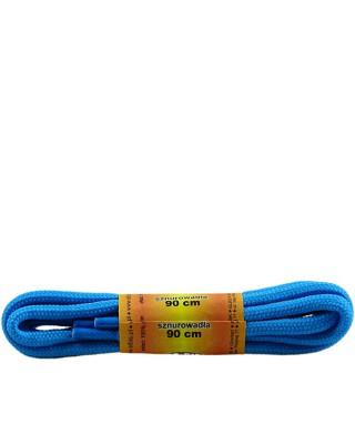 Niebieskie, poliestrowe, sznurówki do butów sportowych, 90 cm