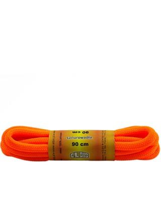 Pomarańczowe, poliestrowe, sznurówki do butów, okrągłe grube 90 cm