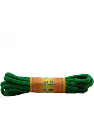 Zielone, poliestrowe, sznurówki do butów, okrągłe grube 90 cm