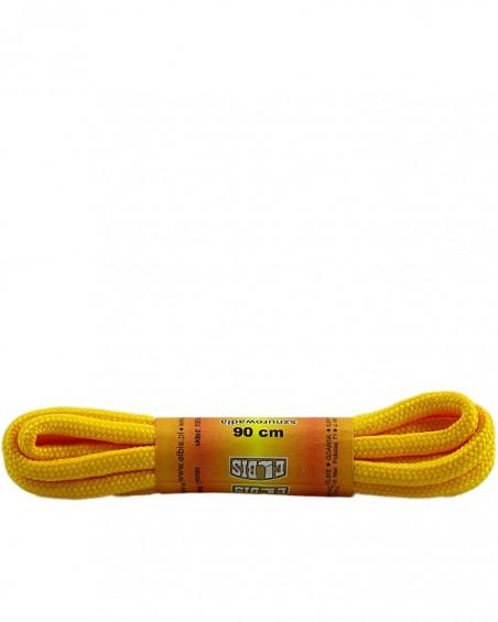 Żółte, poliestrowe, sznurówki do butów, okrągłe grube 90 cm