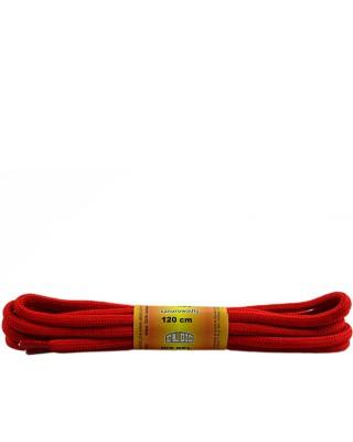 Czerwone, poliestrowe, sznurówki do butów, okrągłe grube 120 cm