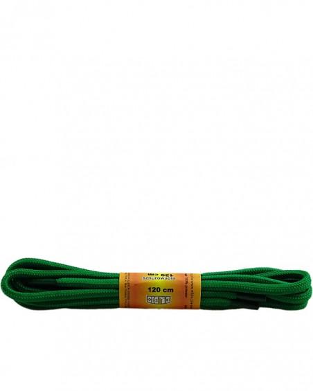 Zielone, poliestrowe, sznurówki do butów, okrągłe grube 120 cm