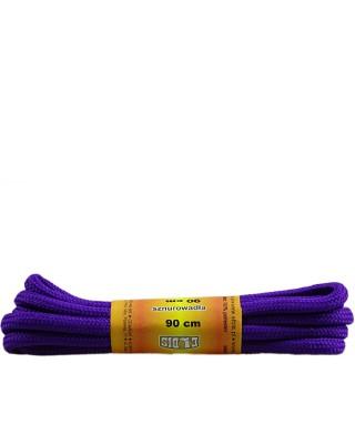 Fioletowe, poliestrowe, sznurówki do butów, okrągłe grube 90 cm
