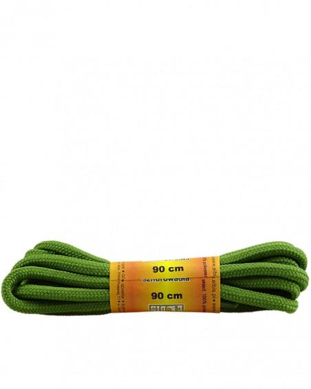 Oliwkowe, poliestrowe, sznurówki do butów, okrągłe grube 90 cm
