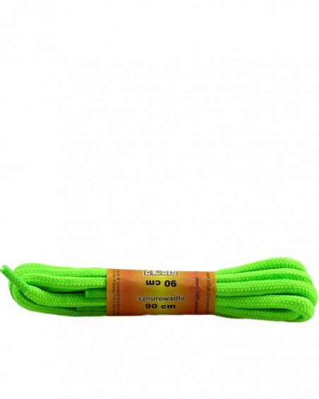 Zielone, poliestrowe, jaskrawe, sznurówki do butów, okrągłe grube 90 cm