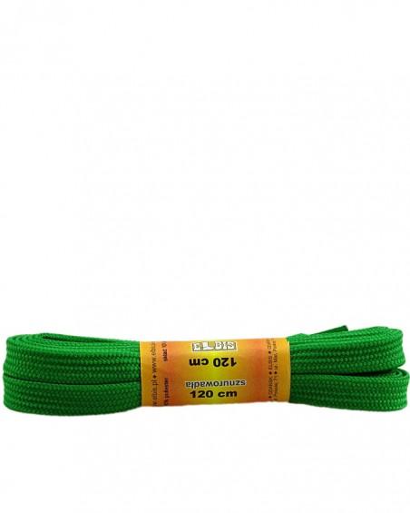 Jasnozielone sznurówki do butów, poliestrowe, płaskie, 120 cm
