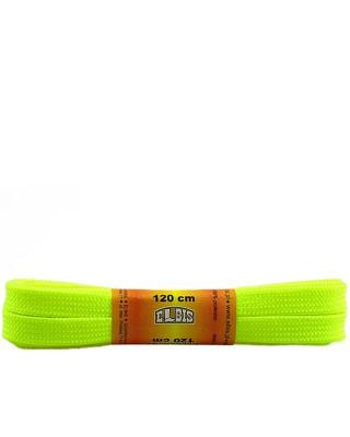 Żółte, jaskrawe, sznurówki do butów, poliestrowe, płaskie, 120 cm