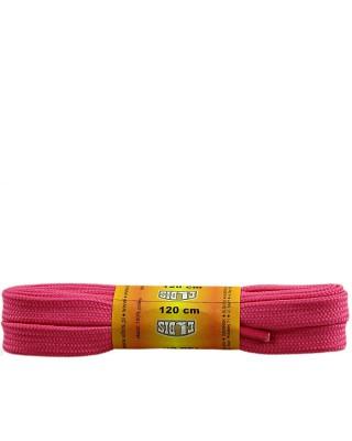 Różowe, sznurówki do butów, poliestrowe, płaskie, 120 cm