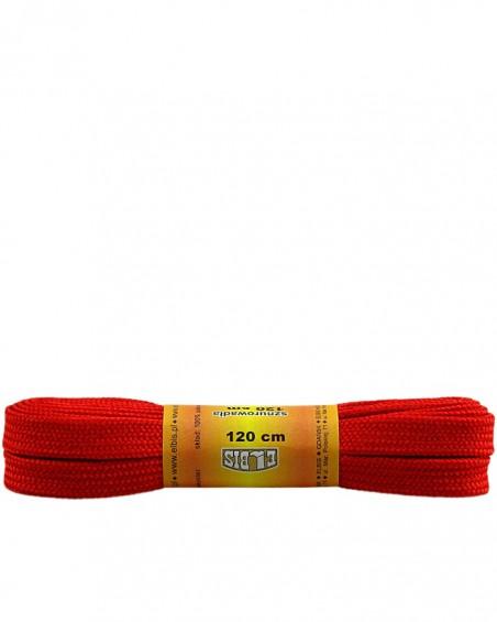 Czerwone, sznurówki do butów, poliestrowe, płaskie, 120 cm