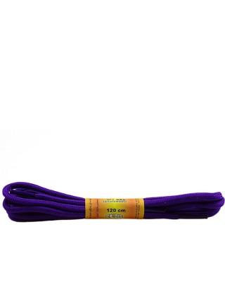 Fioletowe, poliestrowe, sznurówki do butów, okrągłe grube 120 cm