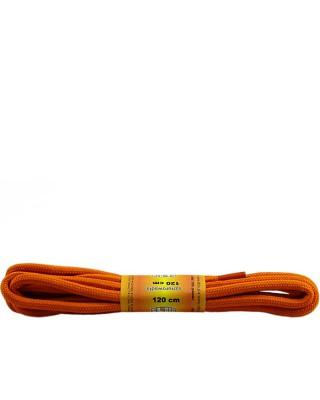 Pomarańczowe, poliestrowe, sznurówki do butów, okrągłe grube 120 cm