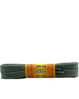 Szare, poliestrowe, płaskie sznurówki do butów, 100 cm