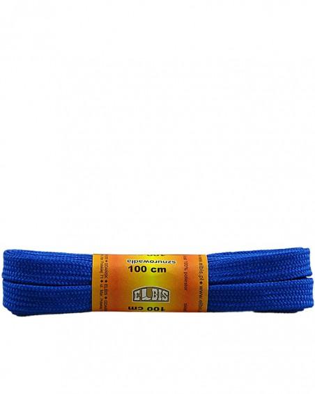 Niebieskie, poliestrowe, płaskie sznurówki do butów, 100 cm