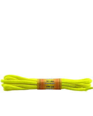 Żółte, poliestrowe, sznurówki do butów, okrągłe grube 150 cm