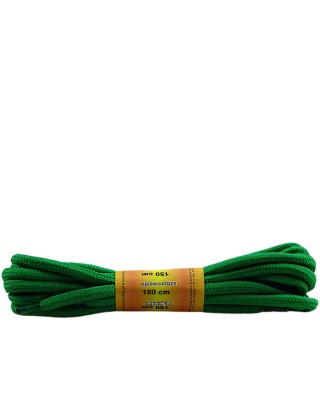 Zielone, poliestrowe, sznurówki do butów, okrągłe grube 150 cm