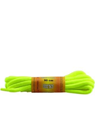 Żółte, jaskrawe, poliestrowe, sznurówki do butów, okrągłe grube 90 cm