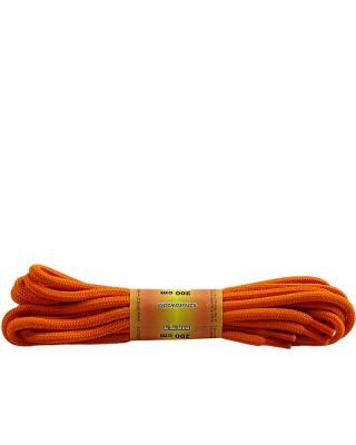 Pomarańczowe, poliestrowe, okrągłe sznurówki do butów, 200 cm
