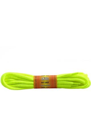 Żółte, jaskrawe, poliestrowe, okrągłe sznurówki do butów, 200 cm