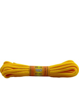 Żółte, poliestrowe, okrągłe sznurówki do butów, 200 cm