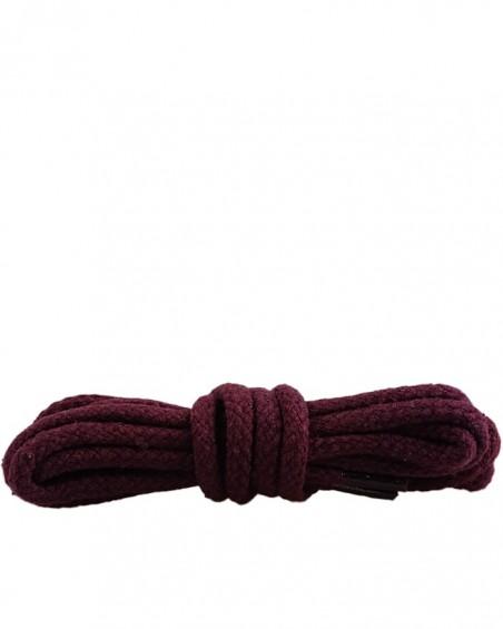 Bordowe, okrągłe grube, sznurówki do butów, 90 cm, Kaps