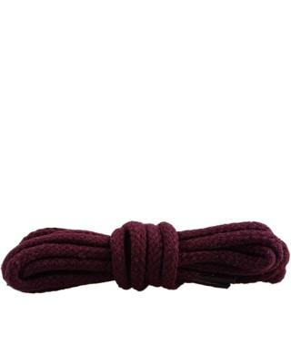 Bordowe, okrągłe grube, sznurówki do butów, 120 cm, Kaps
