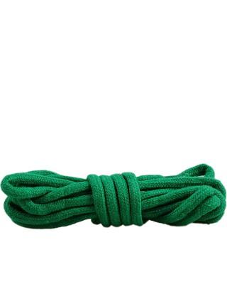 Zielone, okrągłe grube, sznurówki do butów, 120 cm, Mazbit