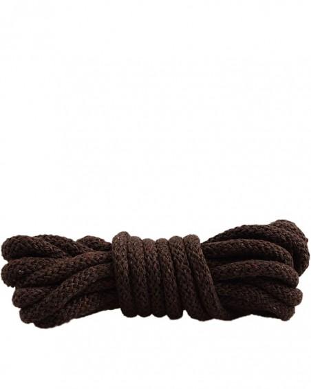 Ciemnobrązowe, sznurówki do butów, okrągłe grube, 180 cm, Mazbit