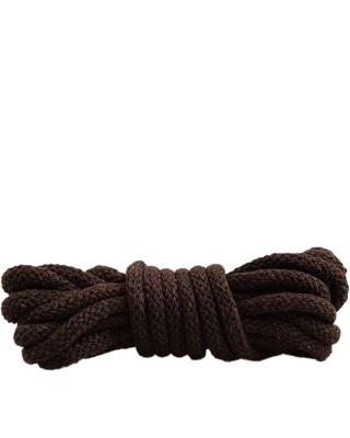 Ciemnobrązowe, okrągłe grube, sznurówki do butów, 120 cm, Mazbit