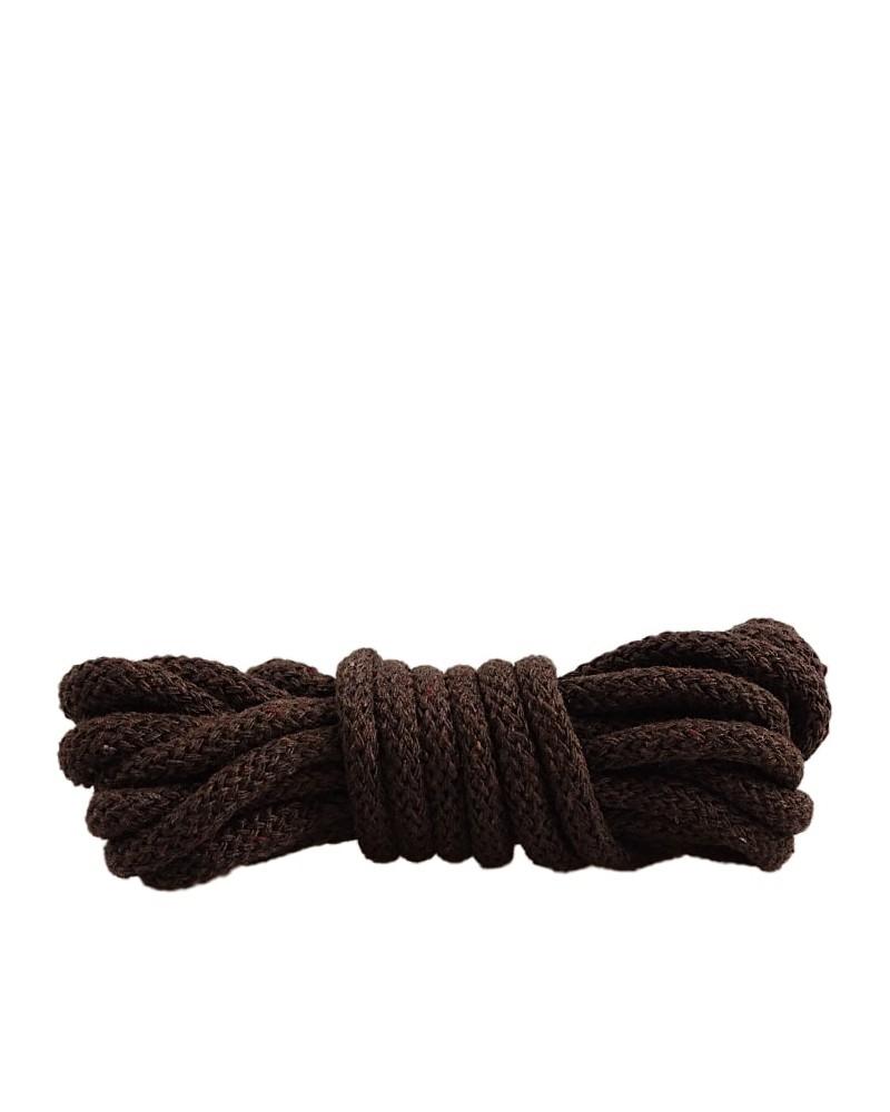 Ciemnobrązowe, sznurówki do butów, okrągłe grube, 200 cm, Mazbit