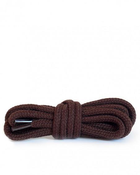 Ciemnobrązowe, okrągłe grube, sznurówki do butów, 100 cm, Kaps