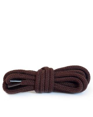 Ciemnobrązowe, okrągłe grube, sznurówki do butów, 150 cm, Kaps