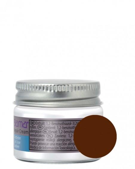 Ciemnobrązowy reperator koloru do skóry licowej, Repair Cream, Bama