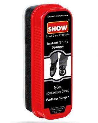 Gąbka do nabłyszczania obuwia, Instant Shine Sponge, czarna, Show